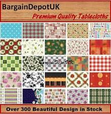 Wipe Clean Tablecloth Oilcloth Vinyl PVC All Designs & Colours 100 x 140cm