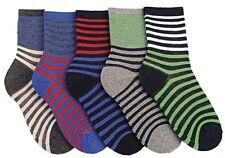Modern Casuals Boys 5 Pairs Striped Cotton Rich Socks