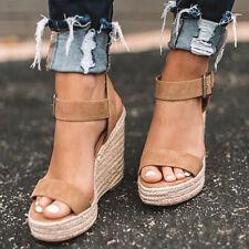 39 Damen Keilabsatzwedge Sandalen Mit Espadrille Größe CBderxWo