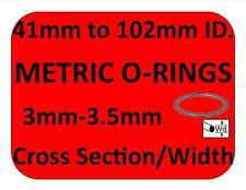 Metric Rubber O-RINGS ALL SIZES ORINGS 3mm 3.5mm CS co2