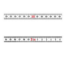 Skalenbandmaß Stahl links - rechts 13mm weiß Duplex selbstklebend 0,3m bis 100m