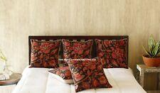 Indian Cotton Canvas Cushion Cover Floral Digital Print Pillow Sham Handmade 16'