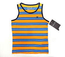 Boys 4-7 HURLEY Surf beach La Jolla Sundial orange Striped Tank top 6 7 NEW
