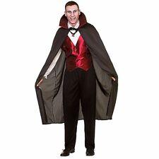 Mens DELUXE CLASSIC VAMPIRE Halloween Horror Fancy Dress Adult Dracula Costume