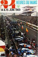 Vintage 1969 Le Mans 24 Hour Race Motor Racing Poster A3 Print