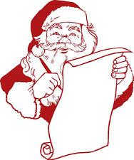 Aplicación Etiqueta Engomada De Decoración varios Tallas Papá Noel WD0809 rojo