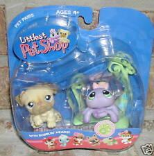 Littlest Pet Shop BULLDOG #135 SPIDER web #136 2005 htf