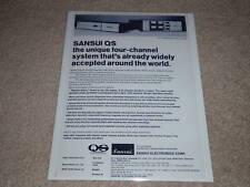 Sansui QUAD Encoder/Decoder Ad,1972, QS info, Quad info