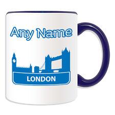 Personalised Gift London City Mug Money Box Cup Britain Tower Bridge Houses Ben