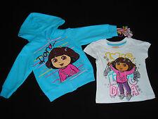 Dora Baby Girl Toddler Hoodie Hooded Zip Sweatshirt T Shirt  12M 18M 2T 3T 4T 5T