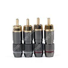 Copper RCA Plug Fiche Plaqué Or Audio Video Adaptateur Connecteur