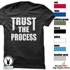 TRUST THE PROCESS T-Shirt Workout Gym BodyBuilding WeightLift Motivation c464