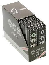 OCB Premium Long Slim Schwarz+ Filtertips Zigarettenpapier Long Papers Blättchen