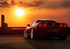 Corvette Stingray Poster Coche Deportivo Foto Impresión Arte Pared exhiben puesta de sol A3 A4
