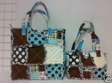 Quilt Purse, Patchwork Tote, 2pc Set, Cotton Rag Bag