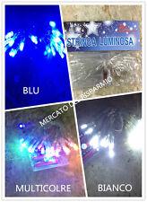 20 led a batteria bianco blu multicolor luce fissa o intermittenza Cavo traspare