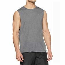 Under Armour UA Threadborne Mens Grey Muscle Tank Sports Gym Training Vest