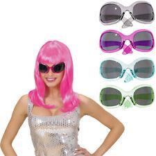 XXL década de los 70 AÑOS Gafas Party sol Mujer Brillo Fiesta Disco Star