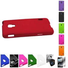 For LG Optimus F6 Hard Rubberized Plastic Matte Cover Case