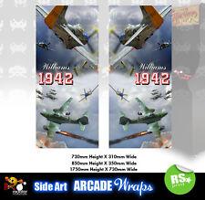1942 Pegatinas de panel lateral de arte Arcade gráficos/Laminado Todos Los Tamaños