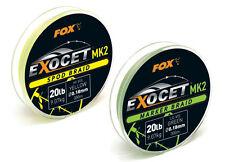 FOX Exocet Ultra vivace GALLEGGIANTI Spod/Marker Braid MK2 LO-VIS LENZA DA PESCA 300M