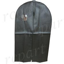 "New nylon garment Bag formal suit evening dress black 40 "" w/ transparent window"