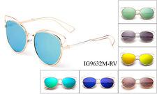 765b56bcda98 Cat Eye Women Sunglasses Monster Metal Frames Flash Mirror or Gradient Lens  w UV
