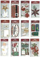 CHRISTMAS Pick Dove Peace Angel Believe Season Tags Flowers Decoration Mistletoe