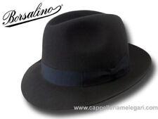 Borsalino Cappello Fedora Marengo ala 5,5 cm grigio scuro