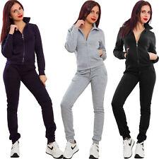 Tuta donna completo pantaloni giacca zip cerniera fitness basic sport XY-1711