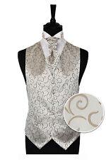 Homme café Spirale Fête De Noces Gilet -Taille 86.4cm-152cm Cravate Choix ou