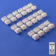 MIXER SLIDER Fader Knobs 4mm Fit - White X 16