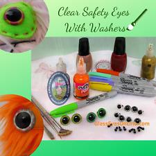 5 PAIR 24mm 27mm 30mm 34mm Safety Eyes Clear Craft Eyes Teddy Bear, Doll, PE-1