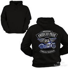 * Hoodie Biker american Vintage Harley-Flathead-Motiv Motorrad  Pullover  *4254