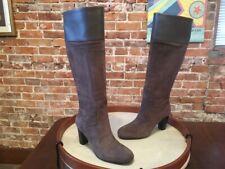 Isaac Mizrahi Grey Suede & Leather High Heel Copley Tall Boots NEW
