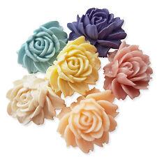 2pcs Large 45mm Vintage Resin Rose Flower Flatback Cabochon Craft Embellishment