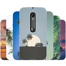 Dessana Palmiers TPU Etui de Protection en Silicone Étui Portable pour Motorola
