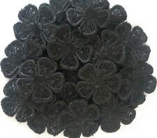 10/30/50 BLACK GUIPURE LACE DAISY FLOWER  MOTIFS SEW ON FLOWER APPLIQUES