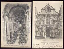 France POITIERS Eglise Notre Dame La Grande 2 u/b PPCs