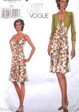 Very Easy Vogue dress pattern sz 6 8 10 12 halter shrug  A line