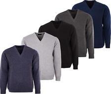 Jersey de punto para hombre cuello en V Manga Larga Cuello en V Suéter