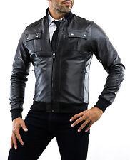 ★Giacca Giubbotto Uomo in di PELLE 100% Men Leather Jacket Veste Homme Cuir 11n5