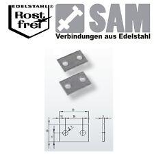 10 Stück Verbinder Edelstahl A2 1.4301 51X30X3mm - connectors stainless steel