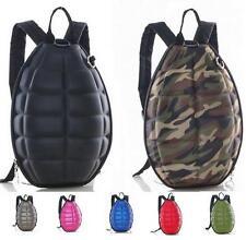 Women Men Canvas PU Turtle Shell Backpack Hand Grenade Bomb Shoulder Bag Purse