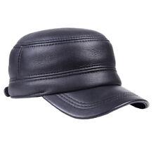 Men's Real Fur Winter Warm Ear Flap Baseball Golf Army Flat Caps/Hats adjustable
