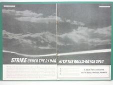 2/1964 PUB ROLLS-ROYCE SPEY MILITARY ENGINE BLACKBURN BUCCANEER S.2  ORIGINAL AD