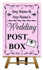 Pink Wedding Post Box Personalised Wedding Sign / Poster
