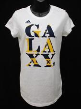New Los Angeles LA Galaxy Womens Sizes M-L-XL White Adidas Shirt MSRP $24