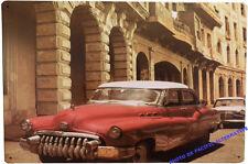 Plaque VOITURE ancienne latino en METAL tole décoration intérieure cuba NEUF