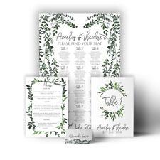 Personalised Wedding Sign Seating Plan Botanical Vintage Garden Canvas Print
